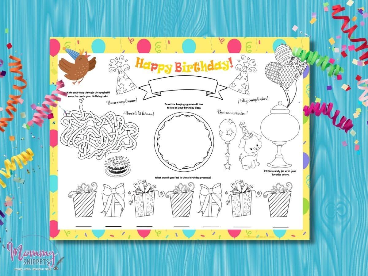 happy birthday printable