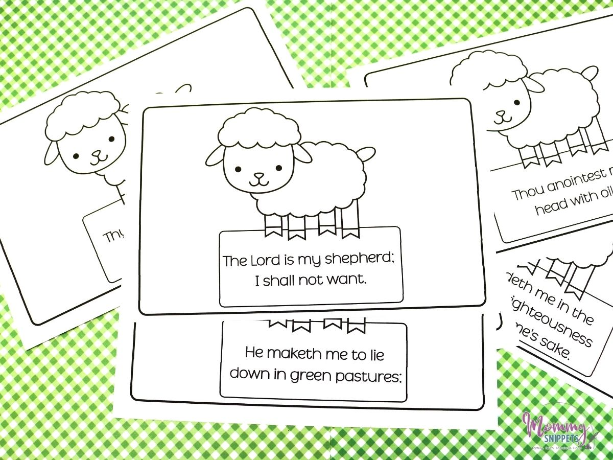 Psalm 23 KJV Flashcards and Craft
