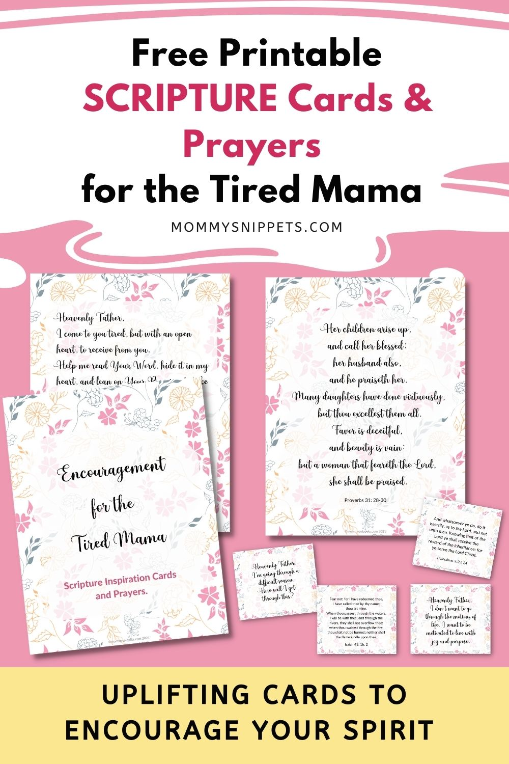 Encouragement for the Tired Mama : Free Printable Scripture Cards and Prayers