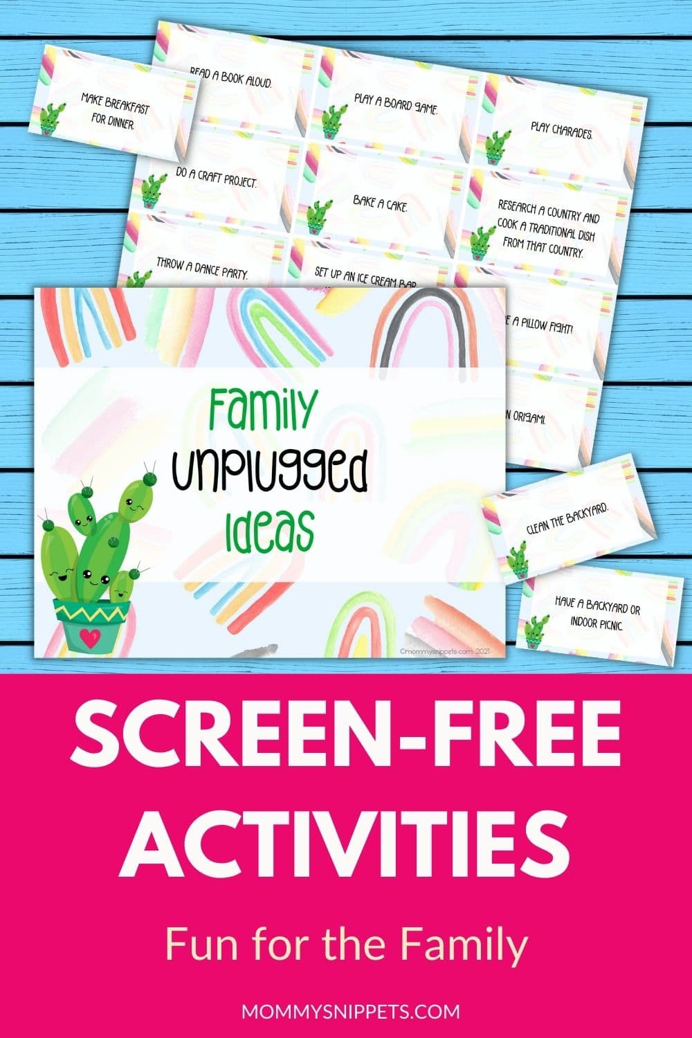 Family Unplugged Ideas- My Favorite Screen-Free Activities for Families