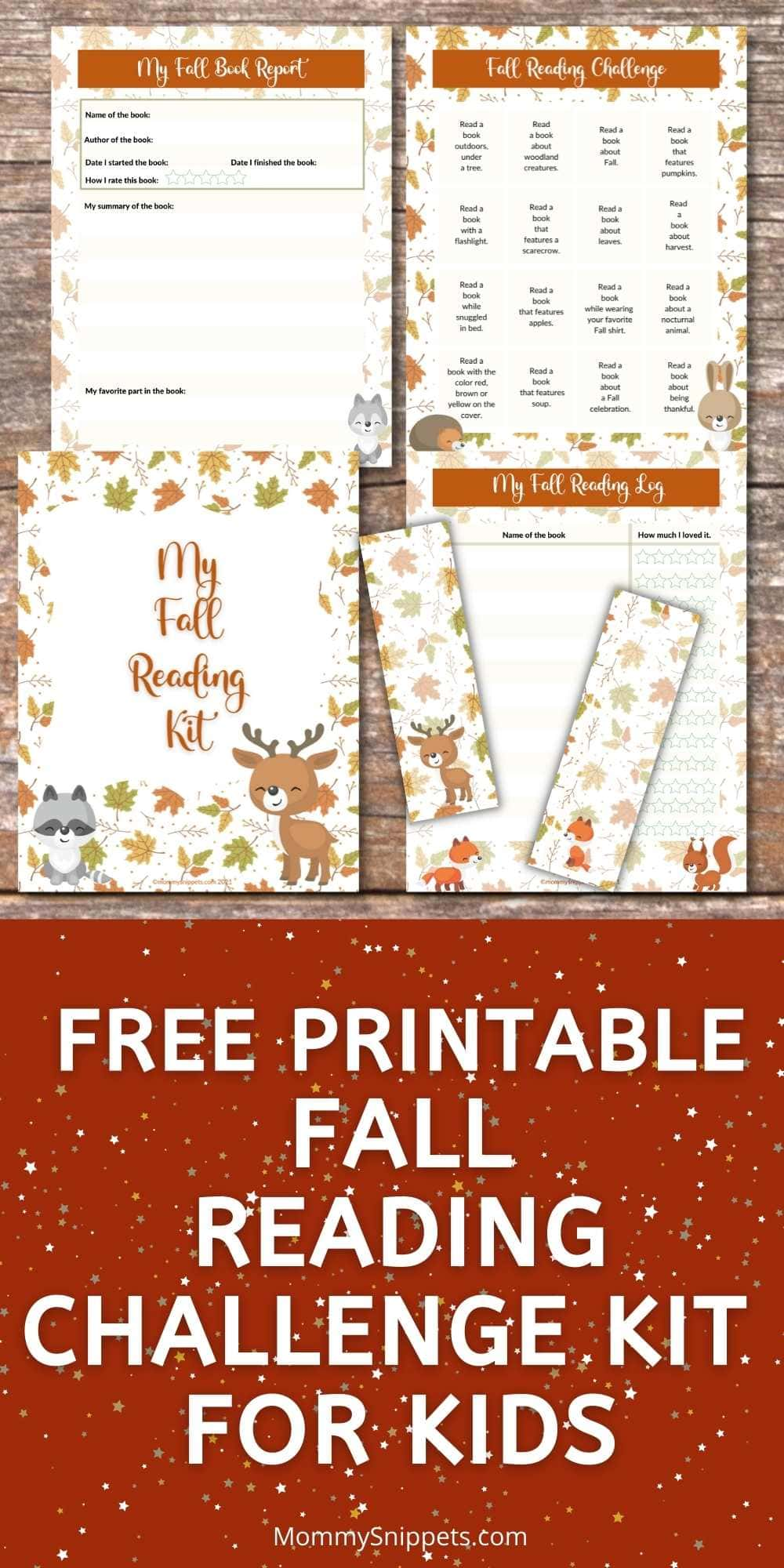 Make Fall Reading Fun- Free Printable Reading Challenge for Kids