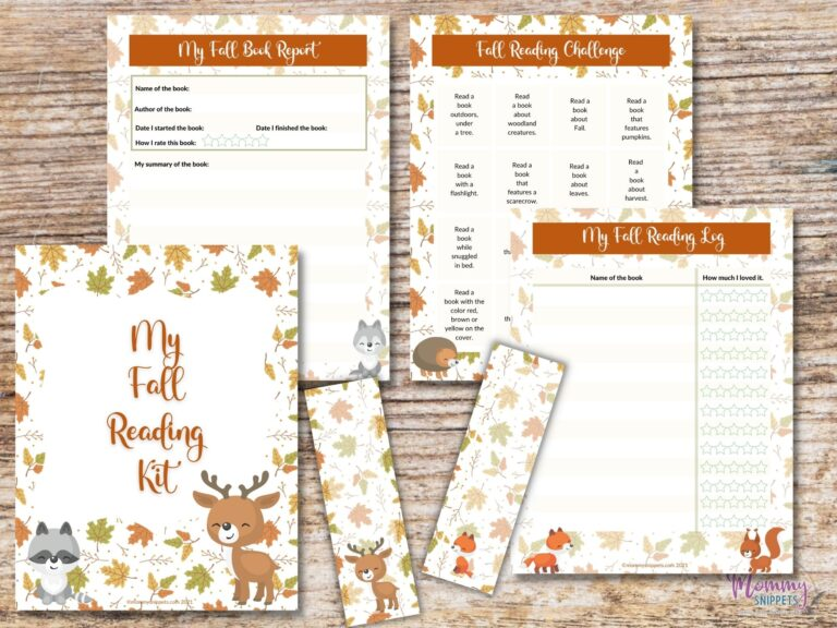 Make Fall Reading Fun With This Free Printable Reading Challenge for Kids