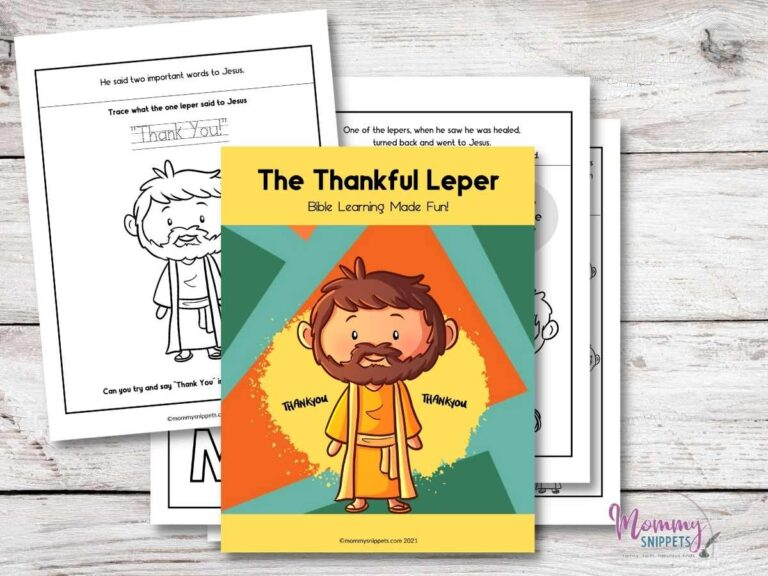The Thankful Leper- The Story of the Ten Lepers Workbook